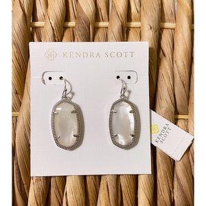Kendra Scott   Silver Earrings in Ivory Pearl.